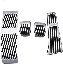 ALLYARD for BMW X1 E30 E36 E87 E46 E90 E91 E92 E93 Accelerator Car Performance Brake Pedal Cover No Drill Non-Slip and Throttle Rubber Aluminum Anti-Skid Pedals Set MT 4Pcs