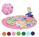 Spielzeug Aufbewahrungstasche für Lego Organizer Taschen Faltbare Teppich Tragbare Organizer Spielzeug Kinder Spielmatte 60 Zoll (150 cm) von Funky Planet.(Pink)