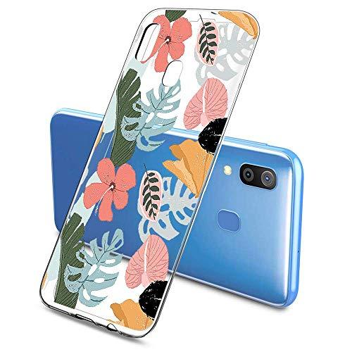 Suhctup Compatible pour Samsung Galaxy S9 Plus Coque Silicone Transparent Ultra Mince Étui avec Clear Mignon Fleurs Motif Design Housse Souple TPU Bumper Anti-Choc Protection Cover,A7