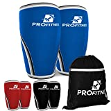 Knee sleeves for weight lifting powerlifting (Blue/Large)