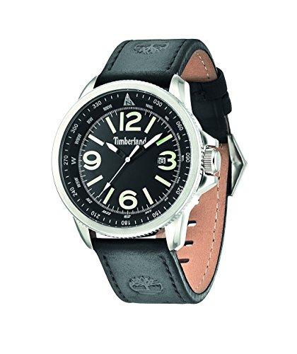 INTELIHANCE. 14247JS/02 - Reloj de Cuarzo para Hombre, Correa de Cuero Color Negro