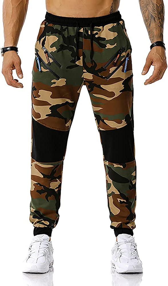 wholesale Insenver Men's Camo San Francisco Mall Joggers Pants Camouflage S Casual Drawstring