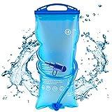 AODOOR Sacca Idratazione, 2 litri Sacchetto dell'Acqua Portatile Sistema di Idratazione per Ciclismo, Trekking e Campeggio, BPA Gratuito Antibatterico per Zaino Idratazione