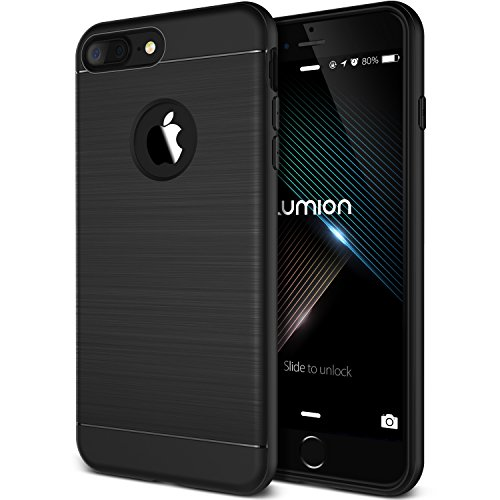 iPhone 7 Plus Case, (Sentinel - Black)(Slim Fit Pocket Friendly) Premium TPU Case (Shock Absorbent Drop Protection) Flexible Lightweight Cover for Apple iPhone 7 Plus 2016 by Lumion