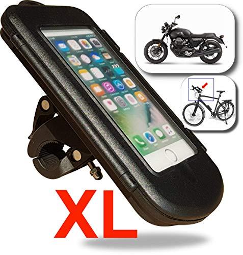 WESTIC FTWD-18XL Motorrad Fahrrad Handyhalterung Wasserdicht Lenkertasche mit Kabelfürung Handyhalter Navi Halterung
