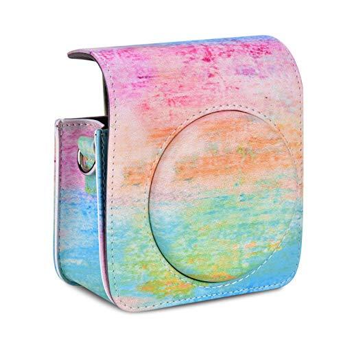 Wosune Estuche para cámara, Estuche para cámara, Suave y Duradero para cámara Digital Fujifilm Instax Mini 70 con Correa(Oil Paint)