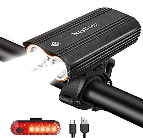 Nestling 2400 Lumens Cree XML T6 Bike Light Set