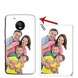 Mixroom - Coque personnalisée avec votre photo étui en TPU silicone souple pour Motorola Moto G5