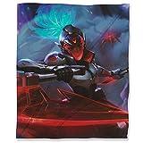 Manta de felpa para otoño de 130 x 180 cm, League Legends mullida y acogedora manta para cama, sofá de viaje, diseño Akali