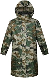 Qivor Waterproof clothing Camouflage One-piece Raincoat Long Poncho Adult Hooded Raincoat, Suitable For Camping Hiking Out...