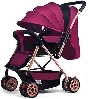 Bärbar kompakt buggy, hopfällbar lätt barnvagnar barnvagnar med vändbart styre