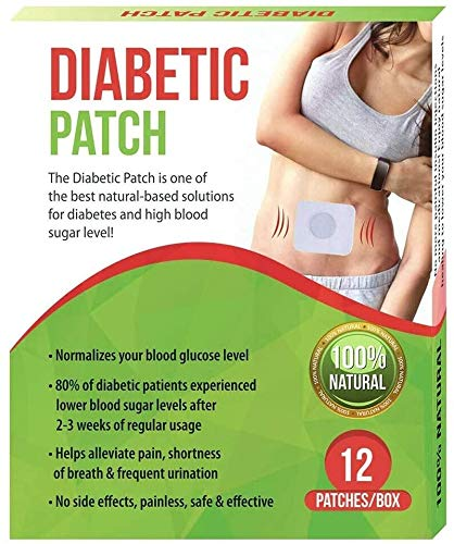 100% Natural Pure Herbal Diabetic Patches - High Blood Sugar Level Control Natural herb Patches