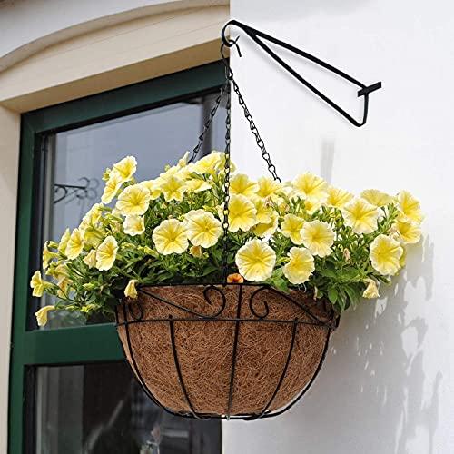 Blumenhaken Wandhaken für Blumenampel, Hängekörbe Haken Blumenampel Landhaus Gusseisen Konsole Regal Aufhänger Mehrzweckhaken Ampeln Küche Aufbewahrung & Organisation