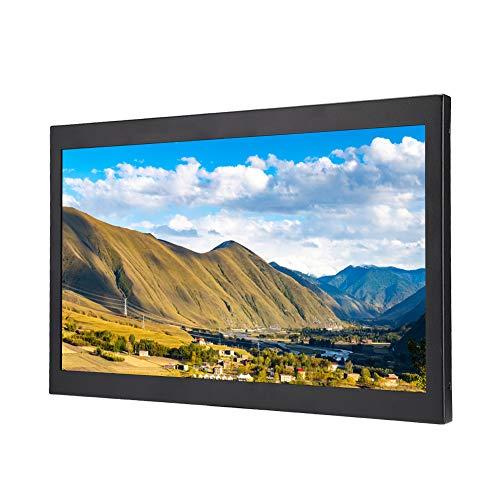 Bewinner1 Monitor Industriale in Metallo 1920x1080, Schermo IPS da 15,6 Pollici, Supporto HDMI/VGA/AV/BNC/USB, Schermo per Montaggio a Parete TFT HD per Fotocamera, PC, Drone