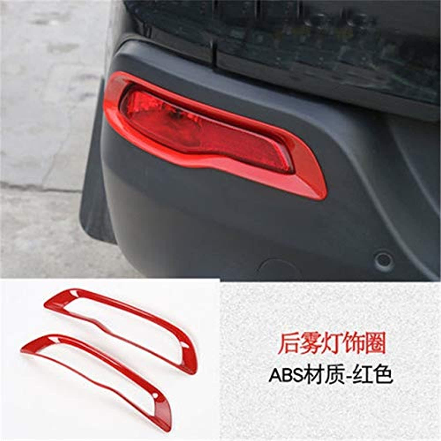 2pcs lot ABS Rear Fog Lamps Decoration Cover for 20142016 Jeep Cherokee  (color Name  White)