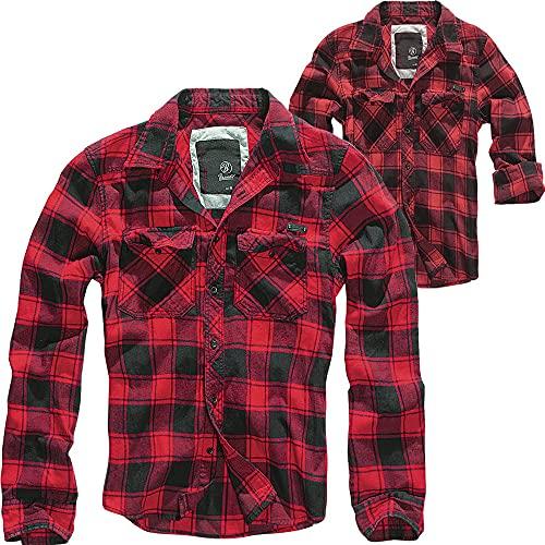 Brandit Mujer Comprobado Camisa - Rojo Negro, M