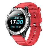 BNMY Smartwatch Reloj Inteligente Impermeable IP67 para Hombre Mujer Niños, Pulsera De Actividad Inteligente con Monitor De Sueño Contador De Caloría Pulsómetros Podómetro para Android iOS,A