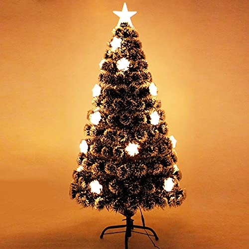 gerenic Árbol de Navidad Verde Oscuro con Luces LED Blancas cálidas,Árbol de...