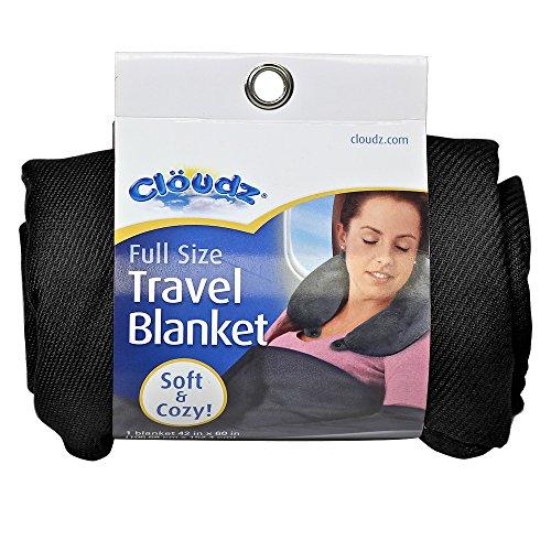 Cloudz Compact Travel Blanket - Black