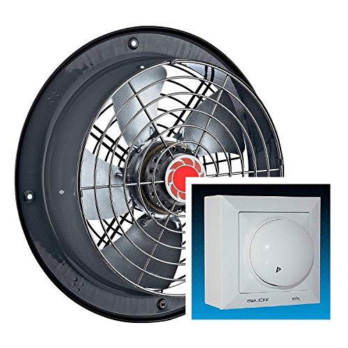 Uzman-Versand RAF 250mm Wandventilator mit REGLER Wand/Fenster Ventilator Lüfter/Gebläse Küchenventilator Einbauventilator Kühlungsventilator, Axialventilator, Axiallüfter Wandlüfter