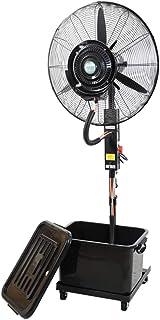 Ventilador comercial, ventiladores de piso silenciosos, ventiladores industriales de pie, ventilador de pedestal oscilante industrial de alta velocidad y 3 velocidades