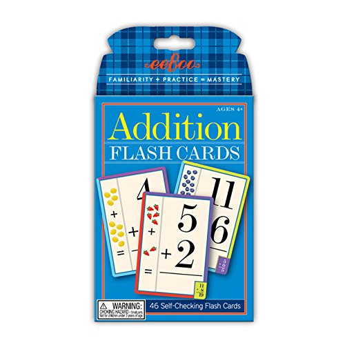 EeBoo - Jeu Educatif de Cartes Flash Cards - Sumas&Restas 15x10Eeboo Multicolore (FLADD2) - Couleur - Modèle aléatoire