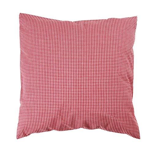 Hans-Textil-Shop Kissenbezug 40x40 cm Karo 2x2 mm Rot