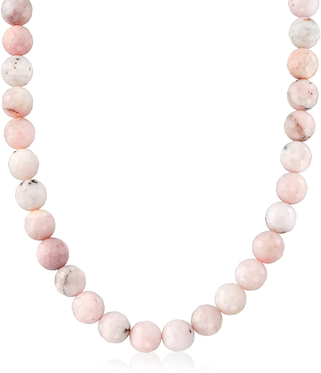 Ross-Simons 12mm Pastel Recommended Pink New arrival Opal With Sterling Bead Necklace Si