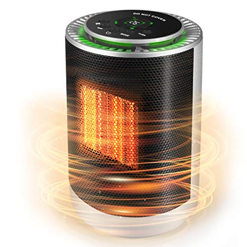 sessong Portable Electric Space Heater, 3 Adjustable Modes, Overheat Protection and Adjustable Thermostat, Room and Office