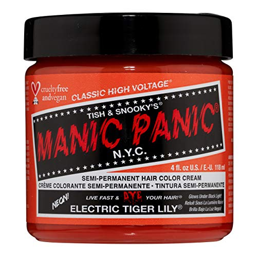 Manic Panic High Voltage Classic Coloration Cheveux Semi Permanente Vibrante 118ml (Electric Tiger Lily - Orange)