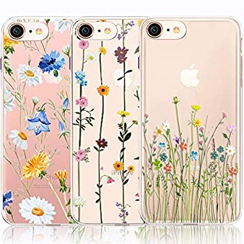 iPhone 6 6S Case iPhone 6 6S Case with Flowers [3-Pack] CarterLily Watercolor Flowers Floral Pattern Soft Clear Flexible TPU Back Case for iPhone 6 6S 4.7    Cute Wildflower