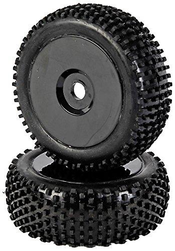 Carson 500405288 - Modellbauzubehör: 1:8 Reifen-/Felgenset Dish, 2 Stück, schwarz