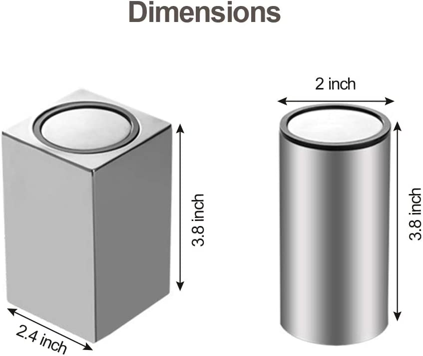 Moderne Aufbewahrung Halter f/ür Wattest/äbchen Qtip Bambus Zahnstocher Metall Zahnstocherspender Flasche Click Open Cube MOLFUJ Automatischer Zahnstocherhalter Edelstahl