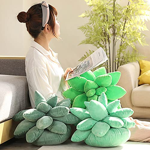 Poachers Succulent Cactus Decor Pillow Green Plant Soft Decorative Throw Cushion Novelty Plush Cute Lovers Doll Toys Stuffed Gift for Home Bedroom Living Room Sofa Couch Chair Office Decoration