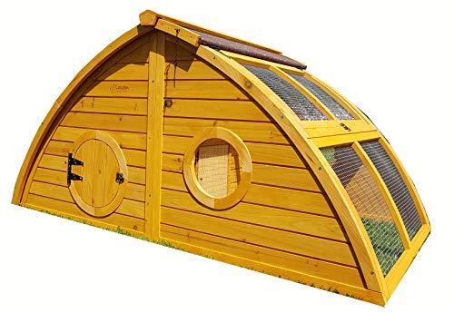 Hühnerstall Hühnerhaus Cocoon Hühnerstall Half Moon mit abnehmbares Dach für einfachere Reinigung, mit stabilem Nistkasten, grosser Lebensraum und 167cm Lang inklusive Nistkasten - Designer Stall