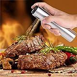 Jingyig Botella de Aceite de Oliva, dispensador de Aceite de Acero Inoxidable, Bote de Plata para cocinar para Asar