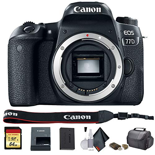 Canon EOS 77D DSLR Camera (International Model) (1892C001) - Starter Bundle
