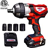 "Best Cordless Impact Guns - Cordless Impact Wrench 1/2"" Max Torque 300N.m Compact Review"