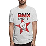 BMX Bandits Stylish, Casual, Comfortable Cotton Fashion Short-Sleeved T-Shirt 1 Gray