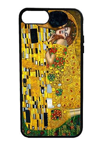 Bkstuff Case Schutz Hülle Kunstwerke berühmte Gemälde HD Druck (iPhone 7, Der Kuss, Klimt)