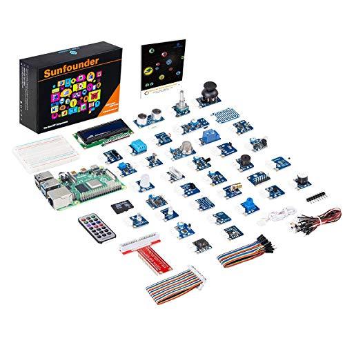 SUNFOUNDER Raspberry Pi 4B, 3 Model B+ 37 Modules Sensor Kit V2.0 for RPI 4B, 3B+, 2B, A+, Zero, Raspberry Pi 3 Model B+ Included