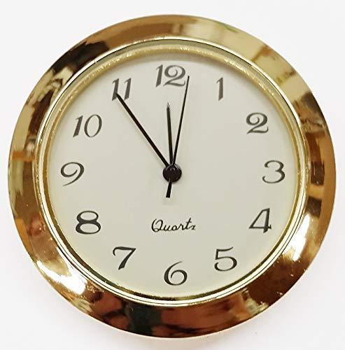 1 7/16' Economy Clock Insert - Gold and Ivory Arabic