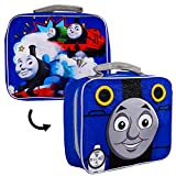 Thomas the Train Lunch Box for Boys Kids Bundle ~ Deluxe 2-Sided Insulated Thomas and Friends Lunch Bag (Thomas the Train School Supplies)