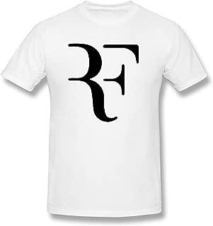 Men's Short Sleeve Roger Federer Unique Original Style White