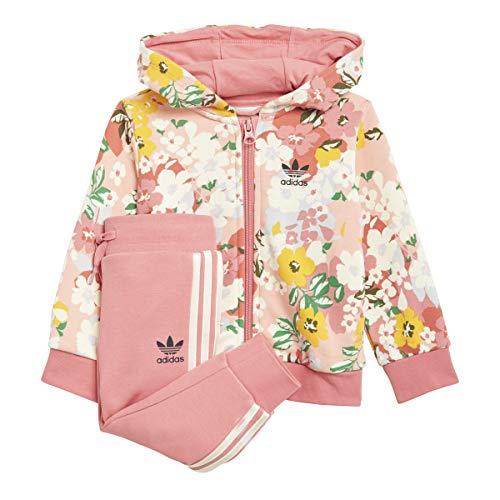 adidas Hoodie Set FZ Chndal, Top:Trace Pink/Multicolor/Hazy Rose Bottom:Hazy Rose S21/Cream White, 12 Meses para Bebés