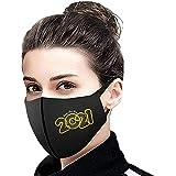 1PC Unisex Adultos Protector Bufanda para 2021 Feliz Año Universal Bonita Impresión 3 Capas Suave Elástico Earloop Bufanda para Mujeres Hombres -21224