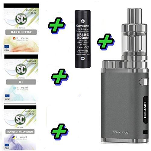 E-Zigarette SC by Eleaf Pico iStick 75W Komplettset | TC Temperaturregelung Einsteiger Dampfen | mit SC Liquids - 00mg Rauchen ohne Nikotin