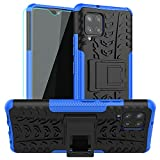 Galaxy A42 5G Case,Samsung A42 5G Case,with HD Screen Protector,SKTGSLAMY [Shockproof] Tough Rugged Dual Layer Protective Case Hybrid Kickstand Cover for Samsung Galaxy A42 5G (Blue)