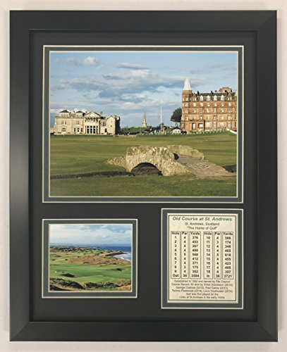 Legends Never Die The Old Course at St. Andrews- British Open Collectible | Framed Photo Collage Wall Art Decor - 12