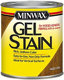 Minwax 260204444 Interior Wood Gel Stain, 1/2 pint,  Aged Oak